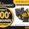 Bannière offre de remboursement Cub Cadet