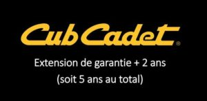 Extension Cub Cadet +2 ans