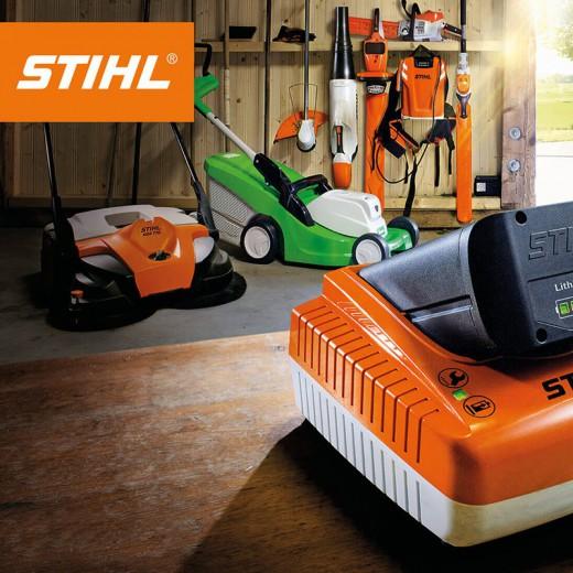 Stihl ! C'est une gamme de matériel à batterie Lithium-Ion