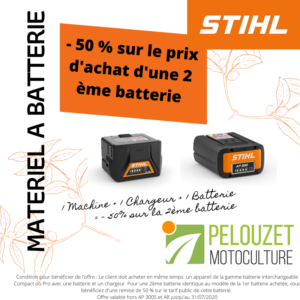 Offre matériel à batterie