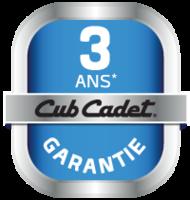 3 ans de garantie Cub Cadet